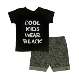 Cool kids wear black/ tijger groen omslag broek