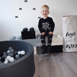 Ballpit with 200 balls darkgrey (black/white/grey)
