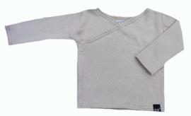 Beige knit overslag shirt