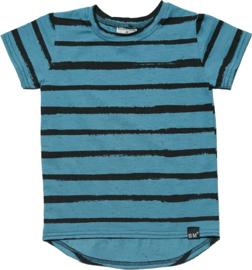Blauw streep long t-shirt