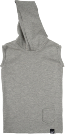 Grey hooded longhemd