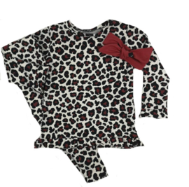 Panter roest roes shirt/legging en haarband