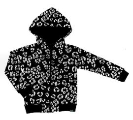 Panter zwart met capuchon wind dicht/ water afstotende jas