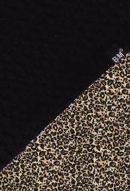Boxkleed zwart wafel/ panter bruin