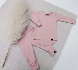 Mini rib roze set