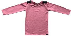 Pink leather longshirt