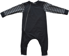 Black with stripe onesie