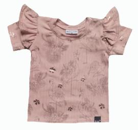 Flamingo roze vleugel t-shirt