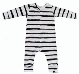 Wit streep onesie (drukkers)