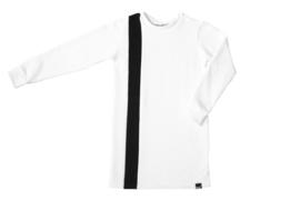 Wit met zwart streep jurk