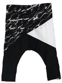 Marble/wit/zwart baggy