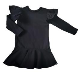 Zwart roes jurk met vleugel