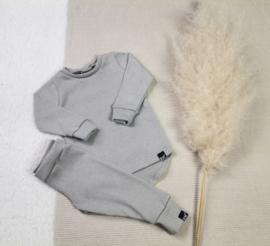 Mini knit grijs set