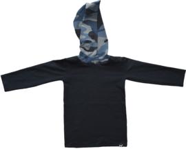 Black with camo blue longshirt