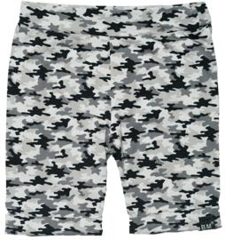 Camo grijs korte omslag broek