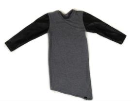 Grey leather dress