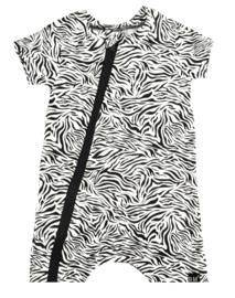 Tijger wit tshirt/ kort onesie
