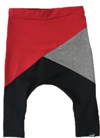 Rood/grijs/zwart baggy