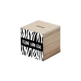 Spaarpot tijger wit