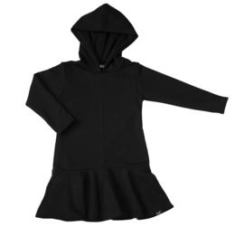 Zwart roes jurk