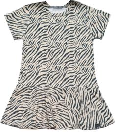 Roes jurk tijger sand korte mouw