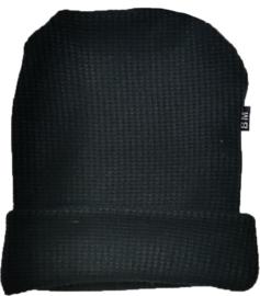 Knit zwart muts