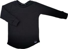 Mini rib zwart shirt