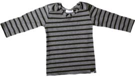 Stripe leather longshirt