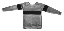 Grijs met zwart streep horitzontaal streep sweater