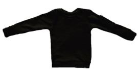Zwart met rits mouw trui