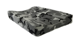 Camo grey changing pad cover