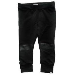 Leer knie zwart broek