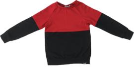 Half rood/zwart shirt