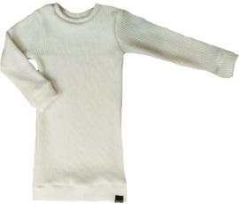 Sweater dress knit off white