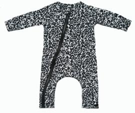 Panter grijs onesie