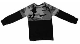 Half camo grijs/ zwart sweatshirt
