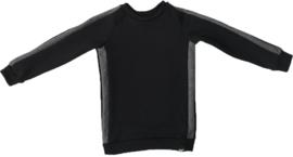 Zwart/donker grijs streep trui
