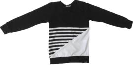 Streep/zwart/wit sweatshirt