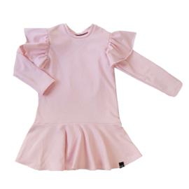 Roze roes jurk met vleugel