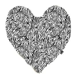 Hart tijger wit kussen