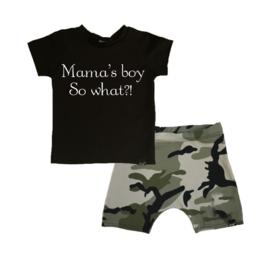Mama's boy/ camo groen korte baggy