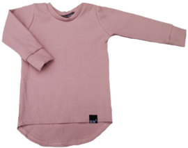 Mini rib roze shirt