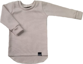 Mini knit beige shirt