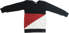 Rood/zwart/wit sweatshirt