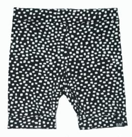 Zwart blok korte omslag broek