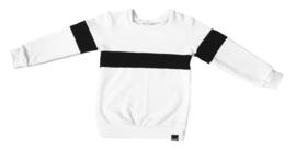 Wit met zwart horizontaal streep sweater