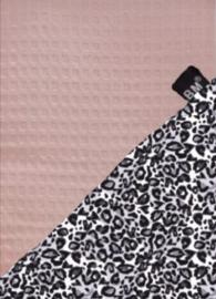 Boxkleed panter grijs met roze wafel