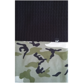 Camo groen wieg/wagen deken