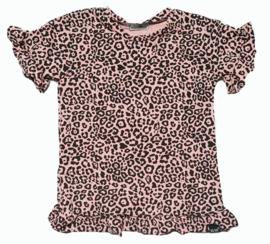 Roes t-shirt panter roze