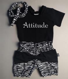 Attitude/ zebra strik bloomer